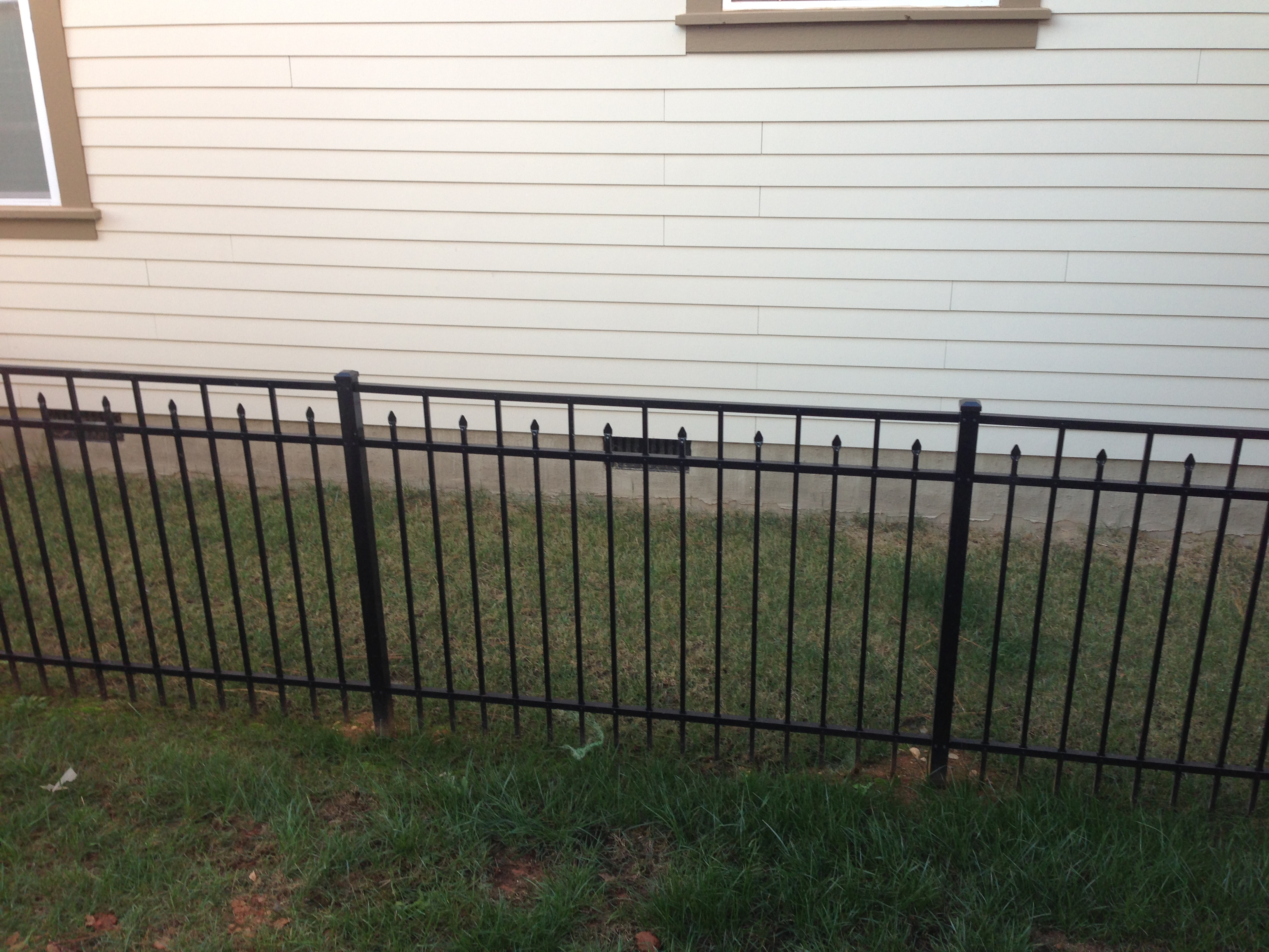 Style C Aluminum Fencing Residential Fence Installation