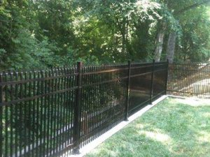 """Aluminum fence, Style A with 2"""" double picket spacing"""