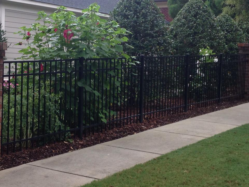 walkway fencing aluminum fencing residential fence installation aluminum